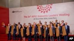 Sommet de l'APEC, Lima, Pérou, le 20 novembre 2016.