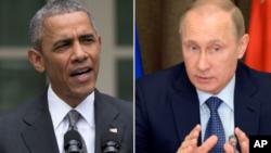 Shugaban Amurka Obama da Shugaban Rasha Putin
