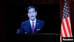 Thượng nghị sĩ Marco Rubio tham gia diễn đàn qua video.