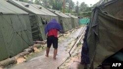 지난해 2월 파푸아 뉴기니 마누스 섬의 호주 난민수용소. (자료사진)