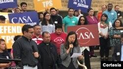 Salvadoreños beneficiados por el TPS participaron de una audiencia en la corte federal del Distrito en Maryland para hacer oír sus voces el miércoles 12 de septiembre.