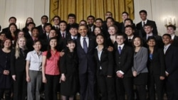 The 40 finalists in the 2011 Intel Science Talent Search met with President Obama at the White House on March 15