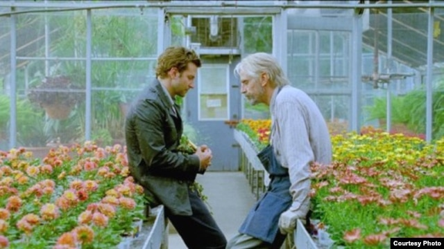"Bradley Cooper (left) and Jeremy Irons in a scene from ""The Words"" (Photo courtesy CBS Films)"