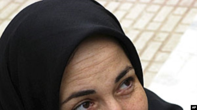 Iran's prominent activist and rights campaigner Haleh Sahabi (file photo)