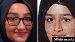 Kadiza Sultana (kiri) dan Shamima Begum dalam foto yang diperoleh Polisi Metro London saat meninggalkan keluarganya dan bergabung dengan ISIS tahun 2015.