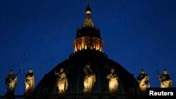 로마 바티칸 교황청의 성 베드로 대성당. (자료사진)