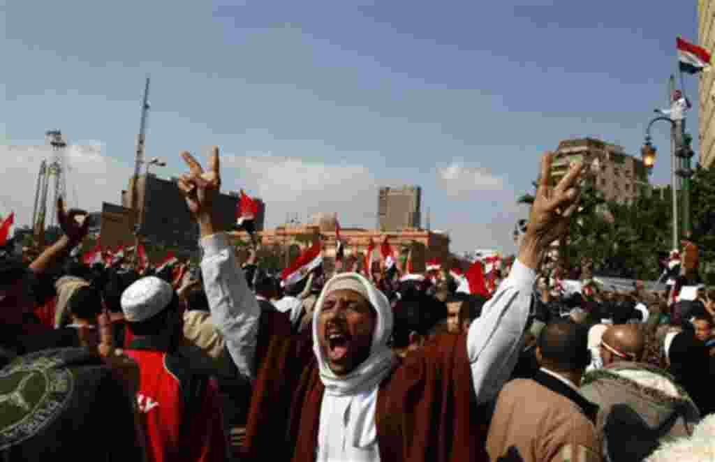Egipto celebra la renuncia del presidente Hosni Mubarak.