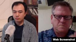Diễn giả Trịnh Hữu Long và Phil Robertson tại Hội luận trực tuyến: Việt Nam hạn chế, ngăn chặn tự do ngôn luận, tiếng nói bất đồng trên Internet, do BPSOS tổ chức ngày 26/10/2020.