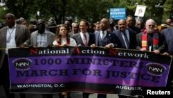 Učesnici protestne šetnje za pravdu u Vašingtonu, 28. avgust 2017.