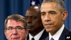 Le président américain Barack Obama, à droite.
