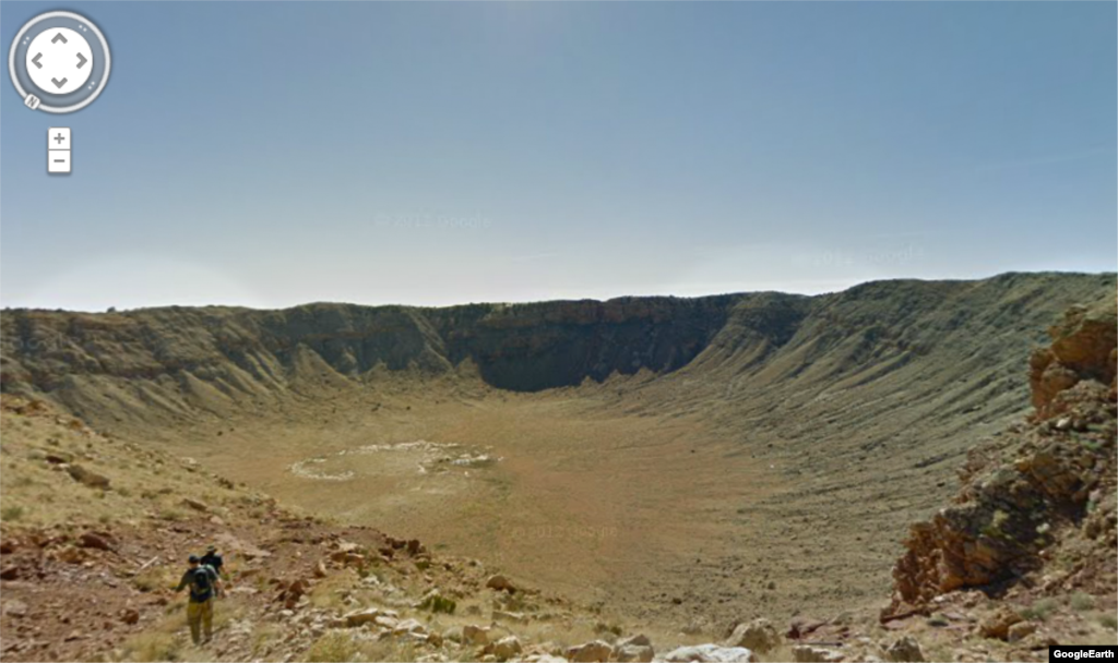 While not located in the Grand Canyon this 50,000 year-old meteor crater offers some spectacular views. The crater is almost 4,000 feet wide and nearly 600 feet deep.