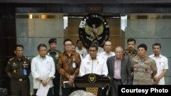 Menkopolhukam Wiranto memberikan keterangan di Jakarta. (Foto: Kemenkopolhukam/dok)