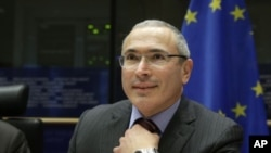 Mikhail Khodorkovsky, mantan kepala Yukos Oil dan pengeritik Presiden Rusia Vladimir Putin (Foto: dok).
