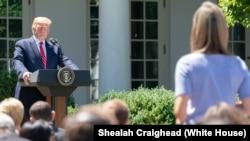 Президент США Дональд Трамп під час прес-конференції 12 червня 2019 року