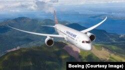 Pesawat Boeing 787 Dreamliner, sejenis dengan pesawat kepresidenan Meksiko yang dibeli oleh Presiden Enrique Peña Nieto pada tahun 2012.