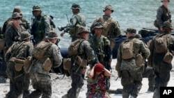 美國和菲律賓於4月15日進行聯合軍事演習。
