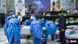 مراسم تشییع تعدادی از زائران جان باخته ایرانی - مشهد