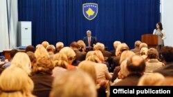 Polaganje zakletve sudija i tužilaca pred predsednikom Kosova Hašimom Tačijem, 24. oktobar 2017.