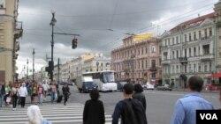 俄羅斯聖彼得堡市街頭。