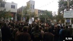 عکس یکی از تجمع های کارگران در شاهرود- آرشیو