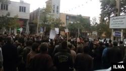 تجمع کارگران معدن مقابل دفتر نماینده شاهرود