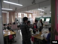 台北市的一个投票站