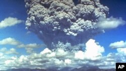 Mt. Pinatubo eruption plume