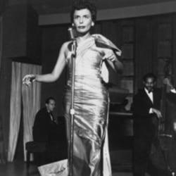 Lena Horne performs at the Sands Hotel in Las Vegas, Nevada in 1954