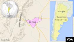 Bản đồ La Rioja, Argentina.