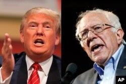 Donald Tramp (sol) və Berni Sanders (sağ)