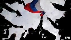 На акции протеста сторонников Алексея Навального в Москве, 7 октября 2017. Author: Maxim Shipenkov (EPA-EFE)