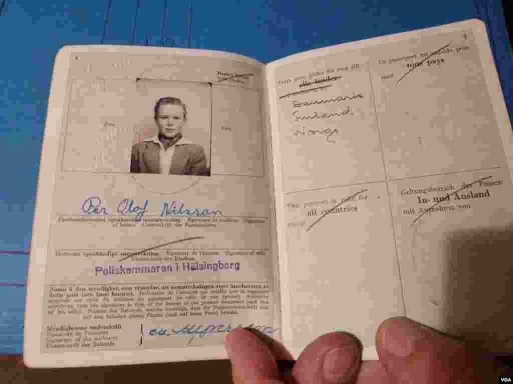 Burkhart Veigel was an expert forger of passports. (Henry Ridgwell/VOA)