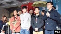 香港佔旺刑事藐視法庭案判刑。(美國之音湯惠芸攝)
