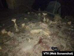 Hiện trường vụ sập lan can trường tiểu học ở Bắc Ninh.