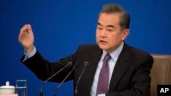 왕이 부장이 8일 베이징 인민대회당에서 전국인민대표대회(전인대) 기자회견을 열었다.