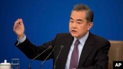 Ngoại trưởng Trung Quốc Vương Nghị tại Bắc Kinh hôm 8/3/2019.