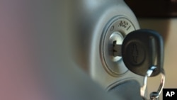 FILE - Photo shows the ignition switch of a (GM) 2005 Chevrolet Cobalt in Alexandria, Va.