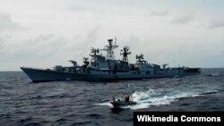 Tàu khu trục INS Ranvijay.