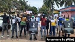 Manifestação contra o assassinato de Bruno Candé