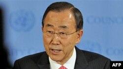 Tổng thư ký Ban Ki-moon nói vụ tấn công nhằm ngăn chặn việc sử dụng vũ khí nặng nhắm vào thường dân và nhân viên gìn giữ hòa bình