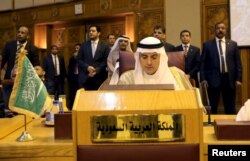 Saudi Foreign Minister Adel al-Jubeir attends the Arab foreign minister's meeting at the Arab League in Cairo, Egypt, Jan. 10, 2016.