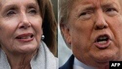 Liderka Predstavničkog doma Nancy Pelosi i predsjednik SAD Donald Trump