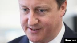 Britain's Prime Minister David Cameron, May 3, 2013.