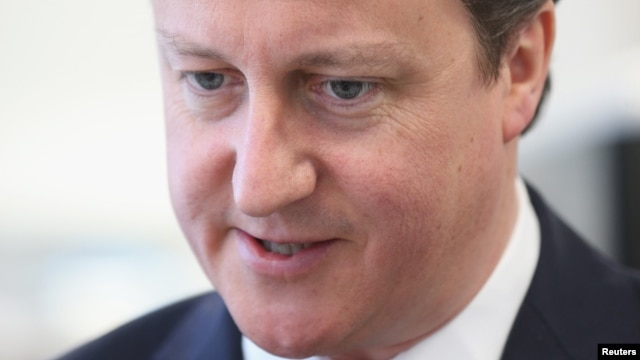 Britain's Prime Minister David Cameron, May 3, 2013.