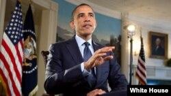 Presiden Obama menyampaikan renungan Paskah dalam pidato mingguan akhir pekan ini (Foto: dok).