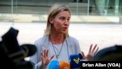 Avropa İttifaqının xarici siyasət şöbəsinin başçısı Federika Moqerini