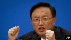 6일 중국 전국인민대표대회가 열린 베이징 인민대회장에서 양제츠 외교부장.