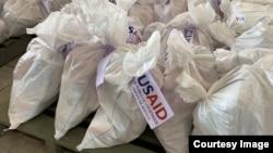 Pake manje ki ranje pou distribisyon ak etikèt USAID.