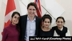 شکیلا با صدراعظم کانادا