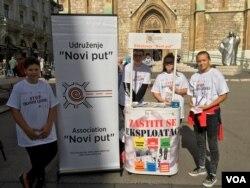 Udruženje Novi put je organizator kampanje o trgovini ljudima u Sarajevu.